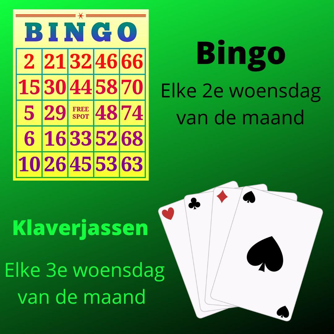 Klaverjassen en bingo in Sportcafe 't Sluisje